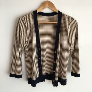 Jcrew perfect fit Sweater cardigan striped button